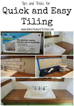 The easiest way to tile....lots of great time saving tips! Also includes links to other great diy bathroom makeover ideas