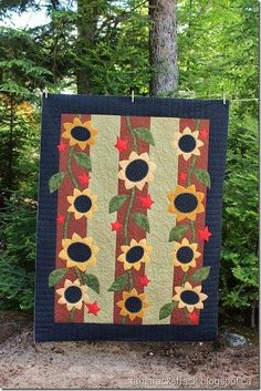 Sunny days quilt by The Quilt Patch, quilt with sunflowers