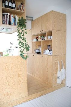Kitchen Interior Remodeling small kitchen design detail in pine plywood Interior Exterior, Interior Design Kitchen, Interior Architecture, Kitchen Decor, Kitchen Ideas, Kitchen Wood Design, Pine Kitchen, Kitchen Small, Küchen Design