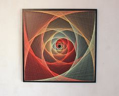 String Art  ALL-SEEING EYE  sacred geometry psychedelic wall