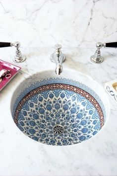 Traditional Full Bathroom with Complex marble counters, Marrakesh counter, sink and faucet, Undermount sink, Complex Marble