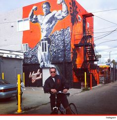 Arnold Schwarzenegger loves the artwork in Venice Beach ... of himself. Mr. Olympia stopped to take a pic in front of a larger-than-life mural by artist Jonas Never.