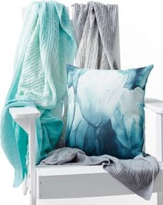House & Home 'Ombre' Knit Throws