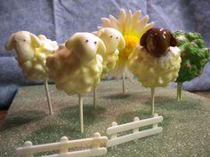 Sheep Cake Pops!
