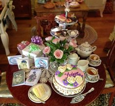 Ash Tree Cottage: Fabulous Dollhouse Tablescapes -- Kathleen Holmes