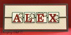 fox and friends - cute idea with the monkey popping out around the letters