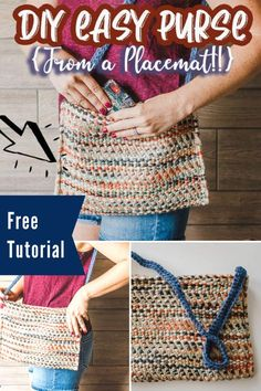 Free Placemat Purse Sewing Tutorial - Great upcycle! - Sewing With Scraps