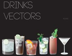 """Check out new work on my @Behance portfolio: """"Long Drinks Vectors"""" http://be.net/gallery/31462017/Long-Drinks-Vectors"""