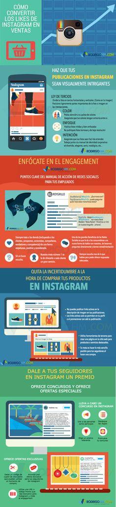 Cómo convertir los likes en Instagram en Ventas #infografia