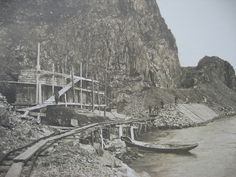 Baikal railroad being constructed