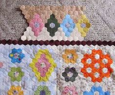 This is the completed centre of the quilt. I could stop here, but I want to add the border units as well!    The border units use a diffe...