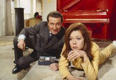 Patrick MacNee et Diana Rigg en 1967