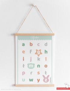 Plakat alfabet miętowy