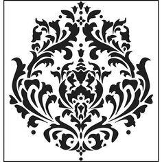 Schablonenmalerei barock stil damask muster vorlage