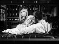 Couple cozied up in the wine clear at Jolo winery | Photography by Halftone Studios | www.SouthernBrideandGroom.com