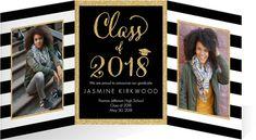Tri Fold Graduation Announcements