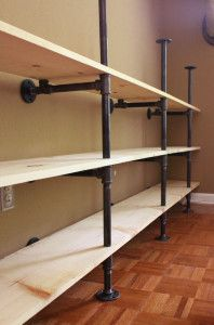 How To Build Plumbing Pipe Shelves