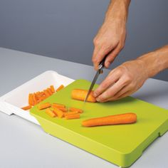Cut & Collect™ - Chopping board with integrated drawer by Joseph Joseph