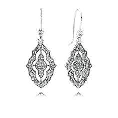 Go boho with these beautiful earrings #PANDORAearrings