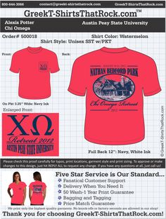 WORK  1 ON 1 with a member of our design team until your CHI OMEGA T-Shirt idea is perfect.... then get them on time (before you even need them) at the price you want! ................................................... JUST CLICK THIS IMAGE TO UPLOAD YOUR IDEAS & YOU ARE DONE!!!
