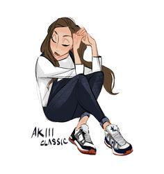 Random drawing from AKIII classic shoes ad -- Celine Kim