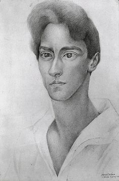 Diego Rivera - Portrait of Jean Cocteau