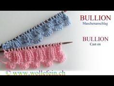 ▶ Shell Cast on - Muschelanschlag - Bullion Maschenanschlag - YouTube