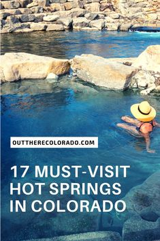 17 Must-Visit Hot Springs in Colorado Few things are more relaxing that a warm soak in a natural hot spring. In case you didn't know, Colorado has plenty of hot springs. Here are 17 must-visit hot springs in Colorado. Winter Park Colorado, Telluride Colorado, Breckenridge Colorado, Estes Park Colorado, Road Trip To Colorado, Visit Colorado, Colorado Springs Things To Do, Loveland Colorado, Colorado Springs Camping