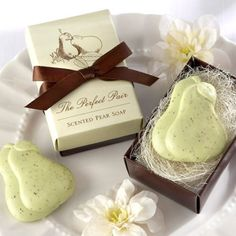 8.The Perfect Pair Pear Soap Favor