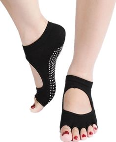 Digesida Yoga Socks No-Slip Half Toe Ankle Grip Five Finger Socks for Women -- New and awesome product awaits you, Read it now  : Plus size Activewear