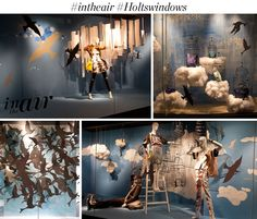 SPRING 2014 WINDOWS: IN THE AIR – Holts Muse #shopwindows #escaparates #visualmerchandising