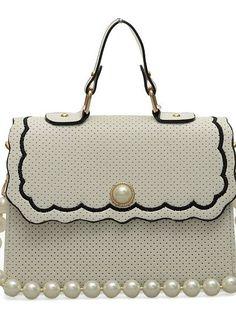 White Pearl Handbag  SALE