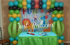 Safari first Birthday Balloons Decoration  by Just Balloons