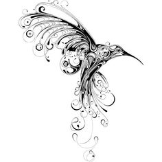 Hummingbird image by Si Scott.I want to have this tattooed on me in memory of my mom. Black Tattoos, Tribal Tattoos, Small Tattoos, Cool Tattoos, Geometric Tattoos, Awesome Tattoos, Unique Tattoos, Silhouette Tattoos, Woman Silhouette