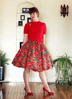 I love crinolines!  This is Rebecca (Ms Midnight Maniac ) on Flickr, rocking a red crinoline.