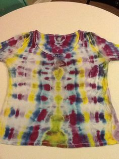 To Dye For Tie Dyes 3/4 Sleeve striped Lady's by DandelionBreak