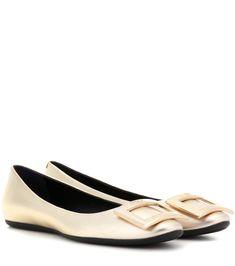 ROGER VIVIER Gommette metallic leather ballerinas. #rogervivier #shoes #flats