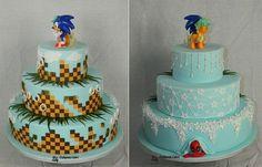Vintage Sonic the Hedgehog Wedding Cake