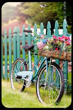 this is an amazing image! ahh, the love for turquoise  bikes  flowers :)