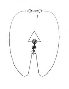 Glenda López Silver Flower Clip Necklace - Women's #Necklaces
