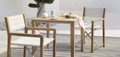 Contemporary chair / with armrests / teak / garden - CROSS TEAK : FS-CH33TK-T.T3 - MANUTTI