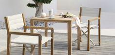 Contemporary chair / with armrests / teak / garden - CROSS TEAK : FS-CH33TK-T.T3 - MANUTTI