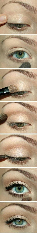 Shimmery eye shadow