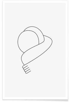 Hug als Premium Poster door Lukas Frischknecht   JUNIQE