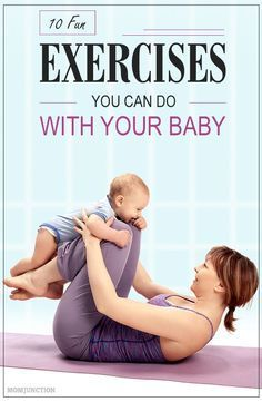 21 Fun Ways To Workout With Baby Post Pregnancy - Are you a new mom who constantly complains of the lack of time to exercise? Exercise with baby can - Post Baby Workout, Mommy Workout, Post Pregnancy Workout, Sport Fitness, Fitness Tips, Fitness Motivation, Fitness Goals, Fitness Routines, Health Fitness