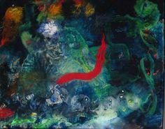 Transmission, epoxy and oils, 21x18 John Schuerman