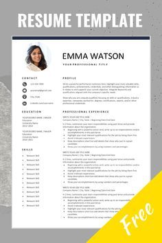Free resume template with left border Free resume