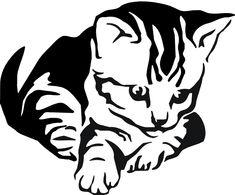 Stencil Schablone Katze (1)