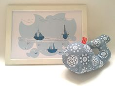 This gift set consisting of an original design soft whale and illustration is perfect for your favorite little one's playtime in her/his nursery. Little Ones, Your Favorite, Whale, Embellishments, Nursery, Wall Art, The Originals, Drawings, Illustration
