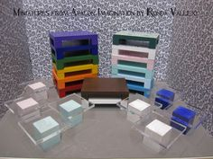 1:12 or 1:6th scale Modern Dollhouse Coffee Tables - Shop by Color Decorating in Miniature